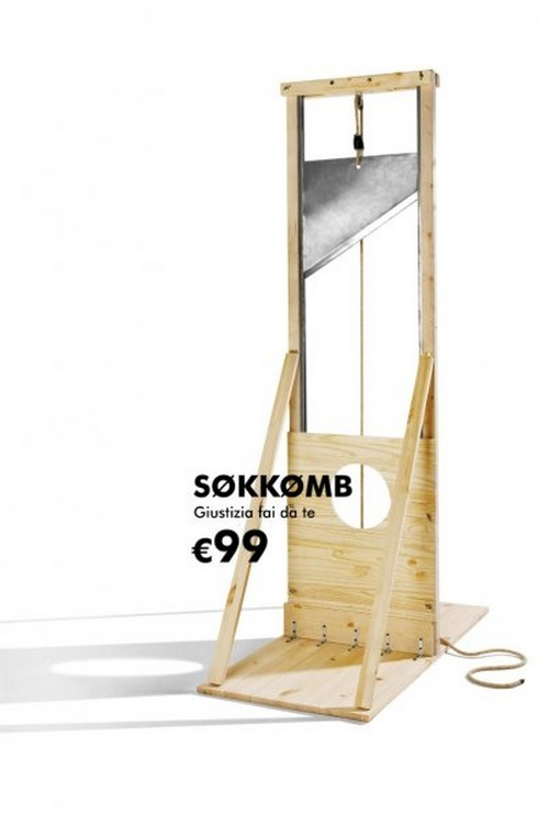Ikea guillotine urban prankster for Casse da morto ikea
